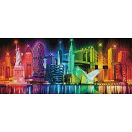 Zestaw do diamond painting - Kolory Nowego Jorku