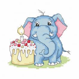 Wzór graficzny ONLINE - Słonik - Moje 1 urodziny