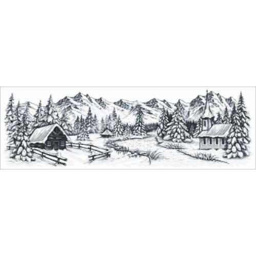 Zestaw z muliną - Zimowe góry