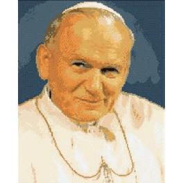 6058 Kanwa z nadrukiem - Papież Jan Paweł II