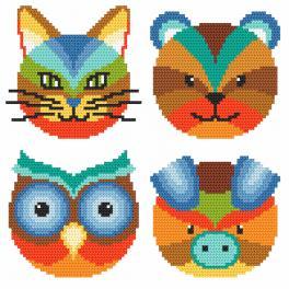 Wzór graficzny ONLINE - Kolorowe zwierzaki