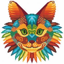 Kanwa z nadrukiem - Koci kalejdoskop