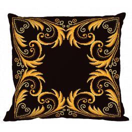 Wzór graficzny - Poduszka - Złota arabeska