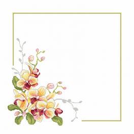 Wzór graficzny - Serwetka ze storczykami