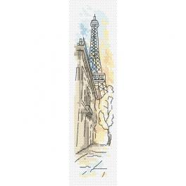 ZU 10404 Zestaw do haftu - Zakładka - Pozdrowienia z Paryża
