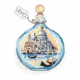 ZN 10401 Zestaw do haftu z nadrukiem - Pamiątka z Wenecji