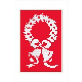 Zestaw z muliną - Kartka świąteczna - Dzwoneczki
