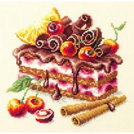 MN 120-072 Zestaw do haftu - Ciasto wiśniowe