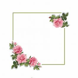Wzór graficzny - Obrus z różami 3D