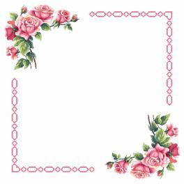 Wzór graficzny - Obrus z romantycznymi różami