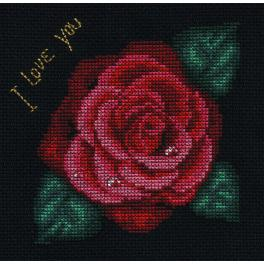 Zestaw z muliną - Róża