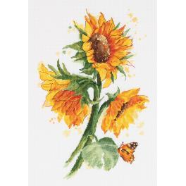 Zestaw z muliną - Świetliste słoneczniki