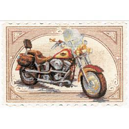 Zestaw z muliną i podmalowanym tłem - Harley Davidson