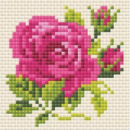 RIO AM0031 Zestaw do diamond painting - Różowa róża