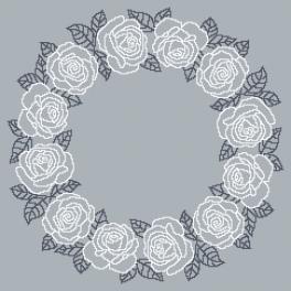 Wzór graficzny - Serwetka z białymi różami