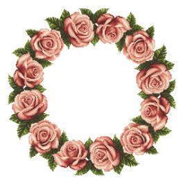 W 10610 Wzór graficzny ONLINE pdf - Serwetka z różami