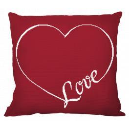 Wzór graficzny - Poduszka - Love
