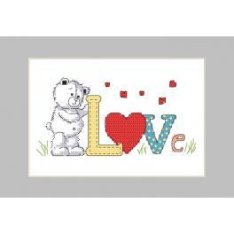 Wzór graficzny ONLINE - Kartka - Misiowe love