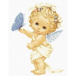 LS B368 Zestaw do haftu - Aniołek z motylkiem