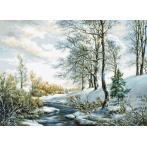 Zestaw z muliną - Zimowy pejzaż