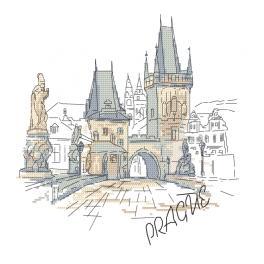 Wzór graficzny ONLINE - Praga - Most Karola