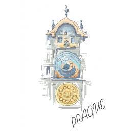 Zestaw z muliną - Staromiejski zegar w Pradze