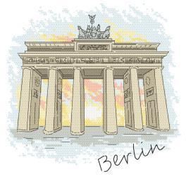 Wzór graficzny ONLINE - Berlin - Brama Brandenburska