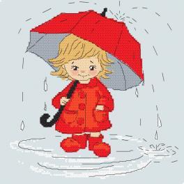 W 10411 Wzór graficzny ONLINE - Dziewczynka z parasolem