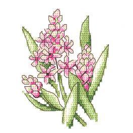 Zestaw z muliną - Różowe hiacynty