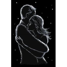 Wzór graficzny ONLINE - Zakochani nocą