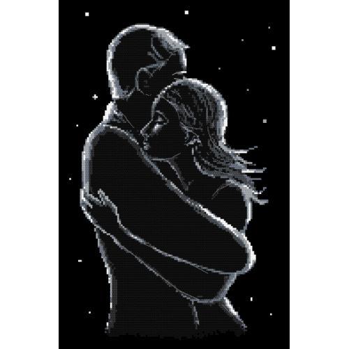 Wzór graficzny - Zakochani nocą