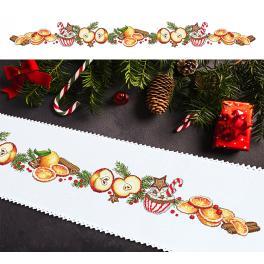 W 10197 Wzór graficzny ONLINE - Długi bieżnik świąteczny