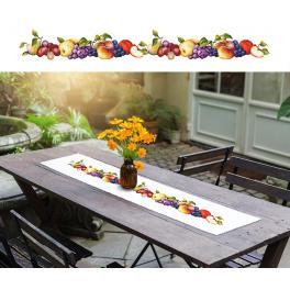 Wzór graficzny - Długi bieżnik z owocami