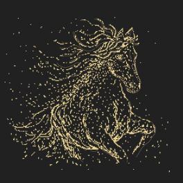 GC 10417 Wzór graficzny - Gwiezdny koń