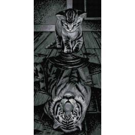 M AZ-1771 Zestaw do diamond painting - Tygrys we mnie