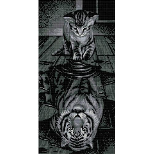 Zestaw do diamond painting - Tygrys we mnie