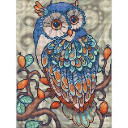 M AZ-1607 Zestaw do diamond painting - Niebieska sowa