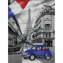 Zestaw do diamond painting - Paryska uliczka
