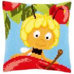 Zestaw z muliną - Poduszka - Maja na jabłku