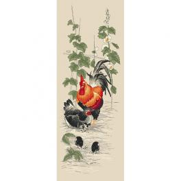 Wzór graficzny - Kogut i kura