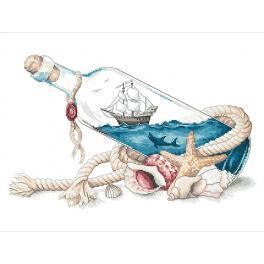 Zestaw z muliną - Morze w butelce