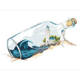 Z 10263 Zestaw z muliną - Wspomnienia w butelce