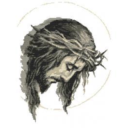 Zestaw z nadrukiem i muliną - Jezus w cierniowej koronie