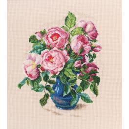 Zestaw z muliną - Delikatne pąki róż