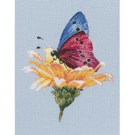 Zestaw z muliną - Motyl na kwiatku