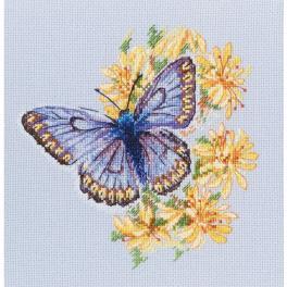 Zestaw z muliną - Motyl na kwiatach