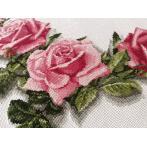 Zestaw z muliną i bieżnikiem - Bieżnik z różami 3D