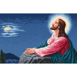 ZN 739 Zestaw z nadrukiem i muliną - Modlitwa Jezusa