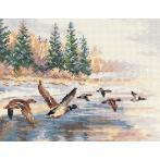Zestaw z muliną - Lecące kaczki