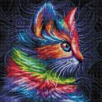 Zestaw do diamond painting - Kolorowy kotek